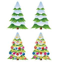 Snowy Christmas Tree3 vector image