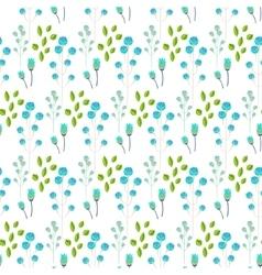 Spring wild flower blue millefleurs field seamless vector image