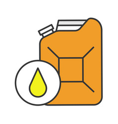 Steel jerry can color icon vector