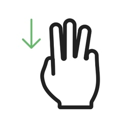 Three Fingers Up vector