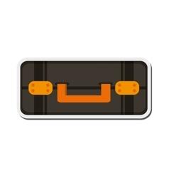 Travel suitcase topview icon vector