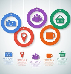 Web Infographic Template Layout With Icons could vector image