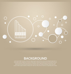 xylophone icon on a brown background with elegant vector image