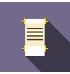 Ancient scroll icon flat style vector image