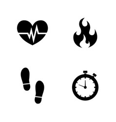 Cardio simple related icons vector