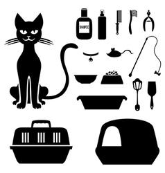 cat tools vector image vector image