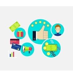 Customer Relationship Concept Design vector image