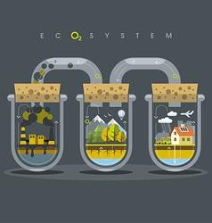 Flat Ecosystem Oxygen vector image