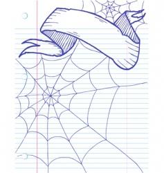halloween doodle banner vector image