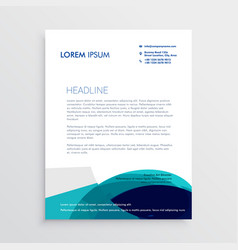 letterhead design with abstract blue shapes vector image vector image