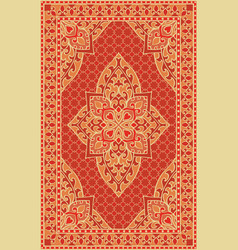 orange template for carpet vector image
