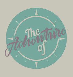 retro emblem adventure vector image vector image