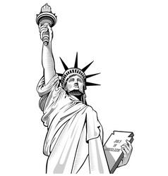 statue of liberty new york city usa symbol vector image vector image