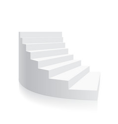 white 3d stair isolated spiral isometric vector image