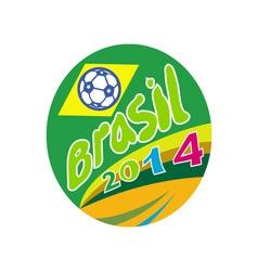 Brasil 2014 Soccer Football Ball Oval vector image vector image
