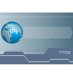 Digital world technology background vector