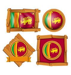 flag of sri lanka in different frames vector image vector image