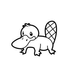 platypus line vector image