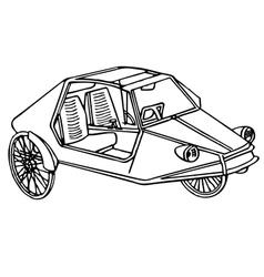Vintage sport bike vector image