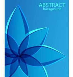 abstract blue background with flower vector image vector image