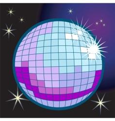 disco ball illustration vector image vector image