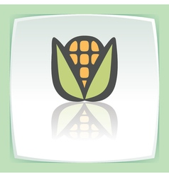 outline ear of corn icon Modern infographic logo vector image