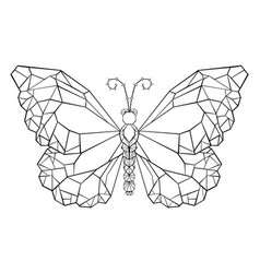 polygonal butterfly monarch vector image vector image