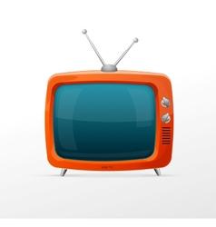 Tv retro cartoon style vector image