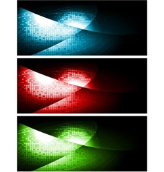 dark contrast banners vector image vector image
