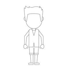 man faceless avatar vector image vector image