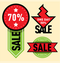 sale badge stickers lables percent discount vector image