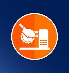 Saw tool icon button logo symbol concept vector image vector image