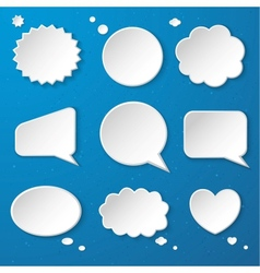 Set of paper speech bubbles vector image vector image