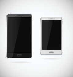 Smartphone Black and White vector image