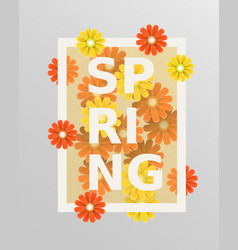 spring flower and weeding design elements vector image