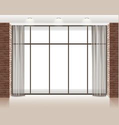 window in room vector image