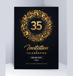 35 years anniversary invitation card template vector image
