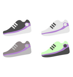 a set of different sneakers vector image