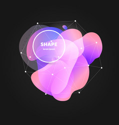 abstract gradient wavy shape with white frame and vector image