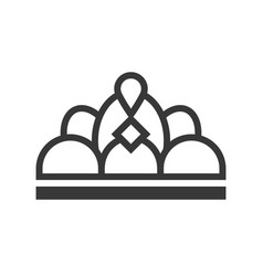 Beauty pageant crown jewelry icon glyph style vector