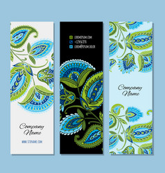 business cards design floral background vector image