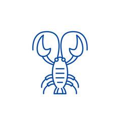 cancer zodiac sign line icon concept cancer vector image