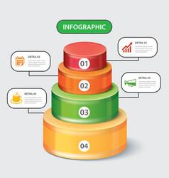 Circular bar infographic template vector