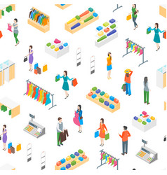 clothing store interior furniture isometric view vector image