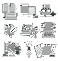 copywriting or articles writing editing and vector image