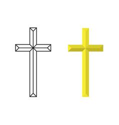 Crucifix cross vector
