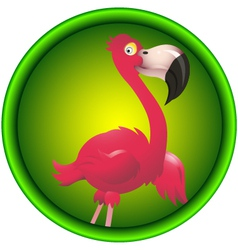 cute flamingo vector image