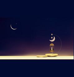 Eid mubarak cardtraditional islamic vector