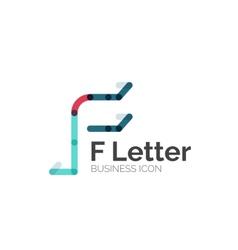F letter logo minimal line design vector image