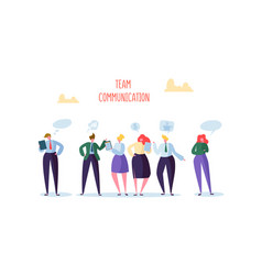 Group of business character chatting office people vector